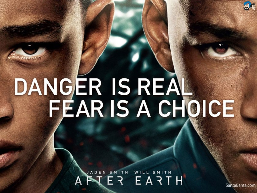 I chose this picture because this is the most ridiculous advertisement for a movie. Fear is not a choice. Fear has scientifically been proven to be real. #technicalities