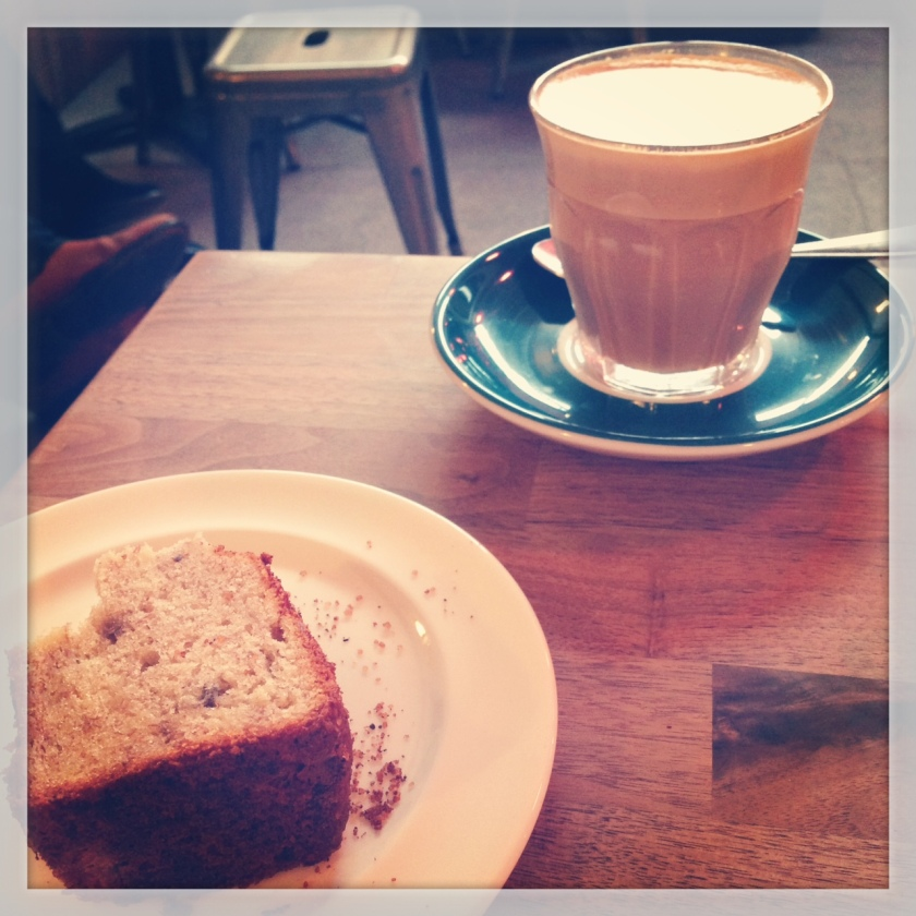 Grind Coffee Bar , 79 Lower Richmond Road, Putney .  - I've had better coffee but the banana bread is awesome.