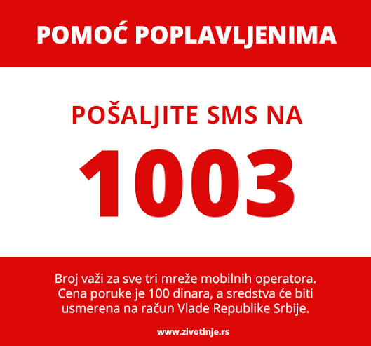 Text 1003 from any of the three mobile operators in Serbia. All texts cost 100 dinar.