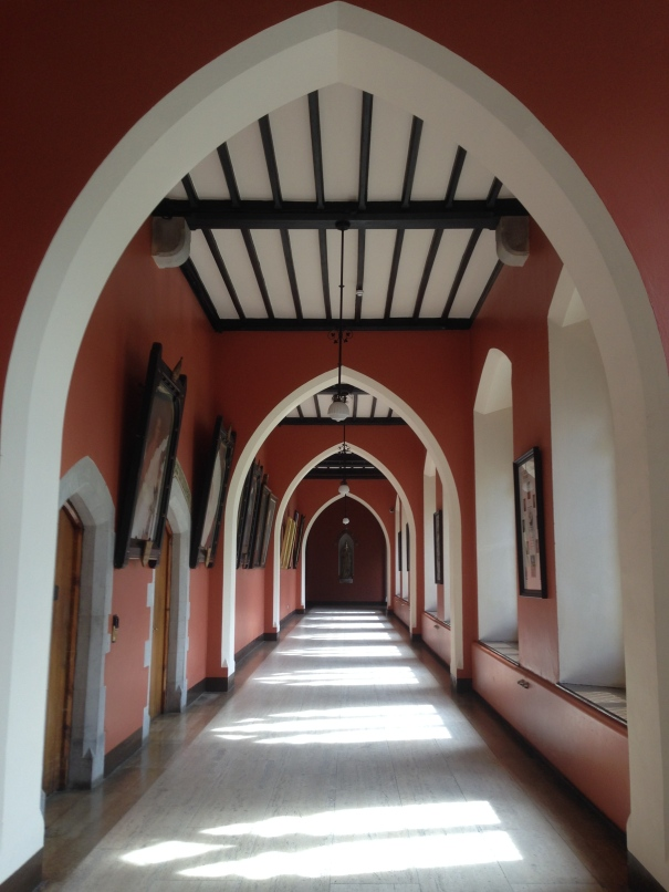 The inside of St Patrick's College. If I had an inside which looked anything like this, I would spend all of my time screaming and running up and down the halls.
