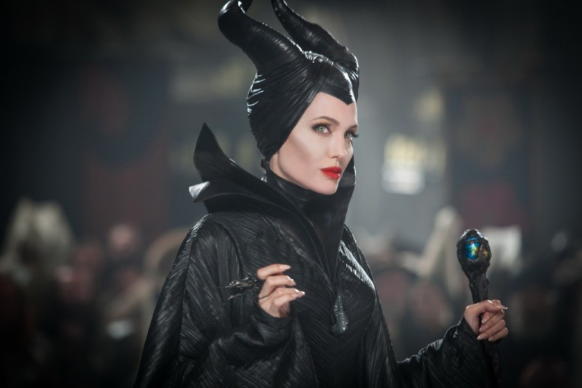 Angelina Jolie as Maleficent.