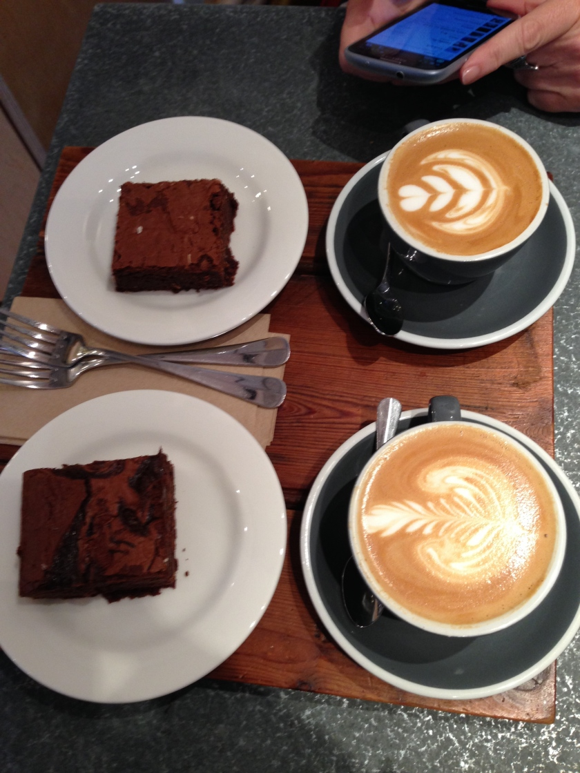 Timberyard: more coffee, more brownies.