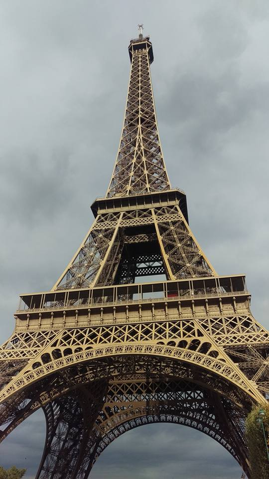 The Eiffel tower is quite something. I didn't realise how big it was until we stood underneath the structure. It has approximately 2.5 million rivets, for those of you that are interested in rivets.